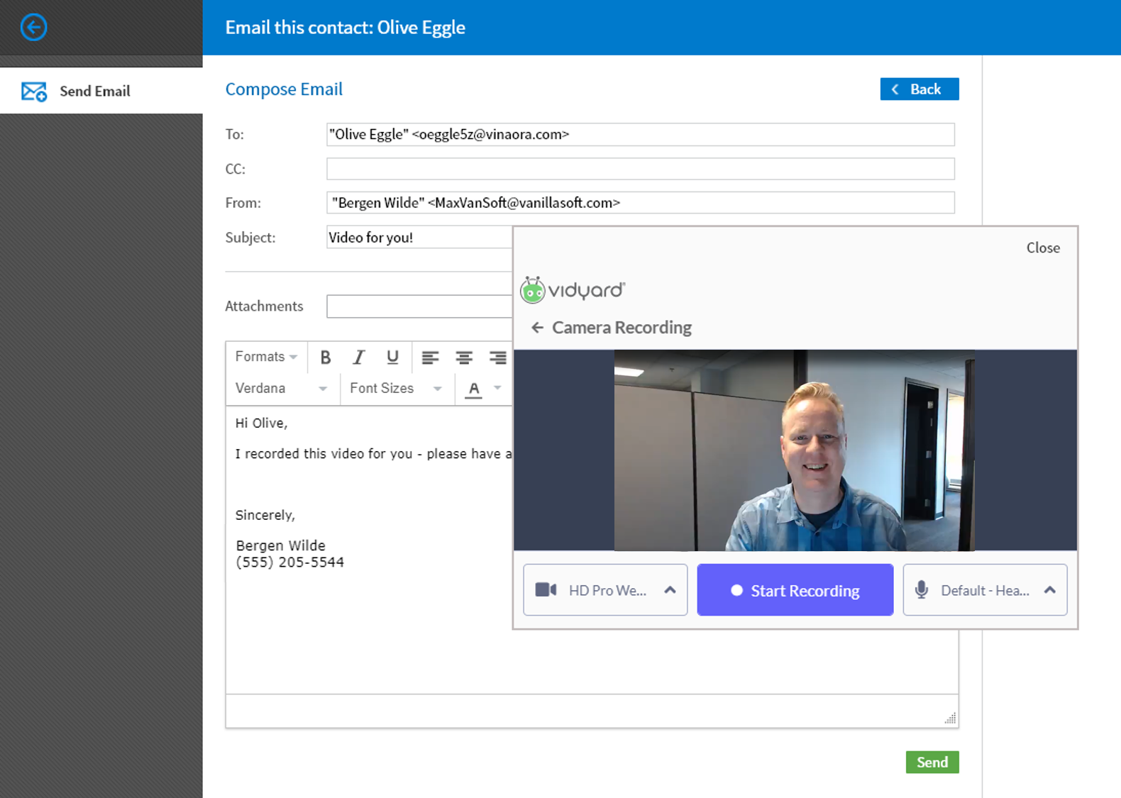 Figure 1 - Email video
